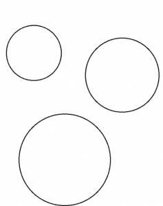 Modèle de cercles à imprimer