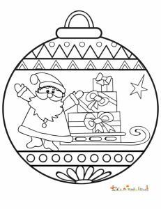 Boule ronde au Père Noël