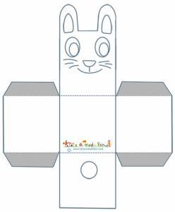 Modèle du lapin corbeille de Pâques