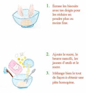 Page2 de la recette de la bûche