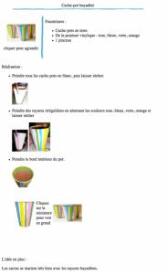 Cache-pot bayadère à imprimer