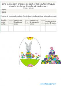 Un jeu de calcul de Pâques