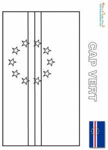 Coloriage du drapeau du Cap Vert