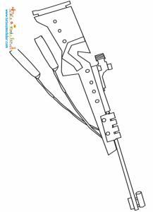 Coloriage carabine Biathlon