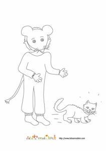 Coloriage de carnaval : déguisement de souris