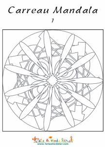 Mandala étoile en carreau
