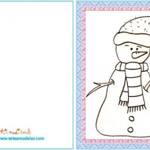 Carte cadeau Bonhomme de neige