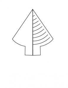 Gabarit sapin vert pour carte kirigami