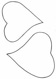 Imprimer le modèle de coeur pour carte