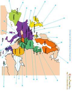 Imprimer l'activité sur les noms des pays d'Europe