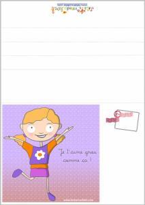Laura illustre la Carte de fête des mères a imprimer