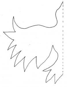 Imprimer le modèle pour une carte oiseau