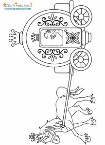 Coloriage du carrosse de Cendrillon