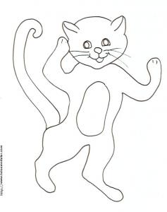 Coloriage d'un chat debout