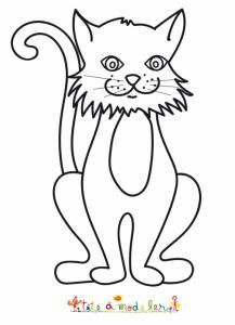 Coloriage d'un chat de grande taille