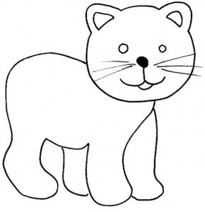 coloriage d'un chat minou