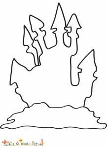 Coloriage silhouette du château