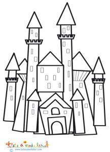 Château du prince à colorier