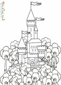 Coloriage du château du roi
