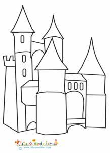 Château à tours et pont levis