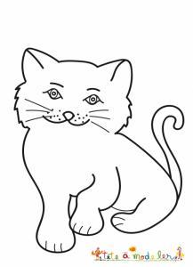 Un chaton à colorier