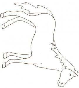coloriage d'un cheval - coloriage dessin 1