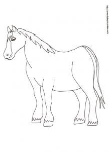 Coloriage d'un cheval ferme - 24