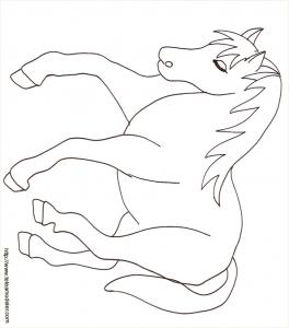 Coloriage d'un cheval à imprimer dessin 12