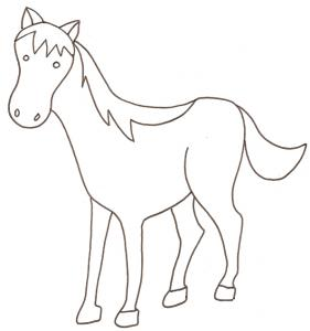 coloriage d'un cheval - coloriage dessin 2