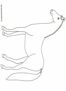 Imprimer le coloriage d'un cheval dessin 15