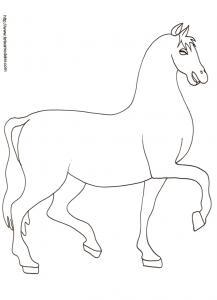 Imprimer le coloriage d'un cheval dessin 16