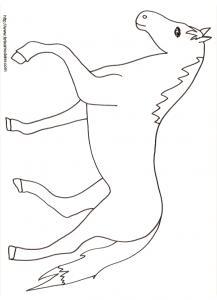 Coloriage d'un cheval dessin 18