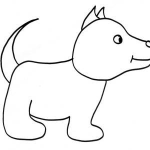 coloriage d'un chien aux oreilles droites