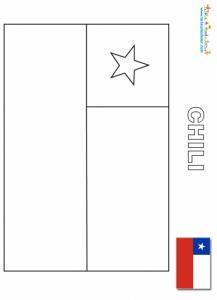 Coloriage du drapeau du Chili