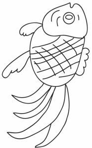 Coloriage sur la chine : poisson