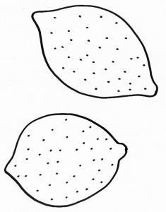 coloriage de deux citrons
