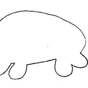 Imprimer le modèle pour tableau cochon