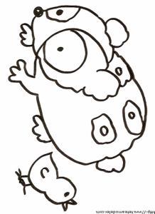 Coloriage d'un cochon d'inde