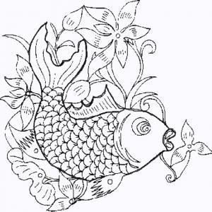 Coloriage poisson asiatique