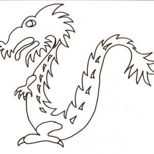 Coloriage du petit dragon chinois
