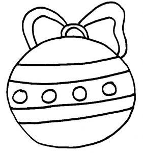coloriage de la boule de Noël