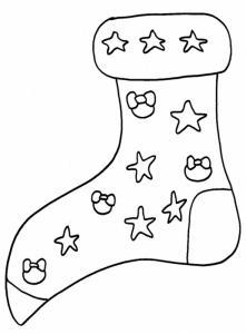 Coloriage d'une chaussette de Noël