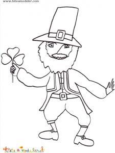 Coloriage Leprechaun de saint patrick. Coloriage du Leprechaun, le coloriage de saint Patrick à imprimer pour votre enfant