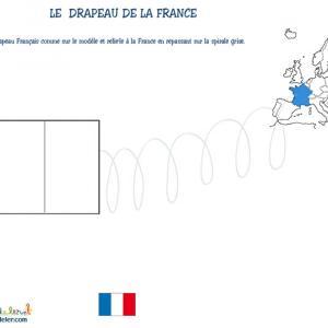 Coloriage du drapeau francais