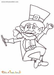 un coloriage saint Patrick à imprimer. Un coloriage à imprimer pour s'amuser sur le thème de la fête de la saint Patrick.