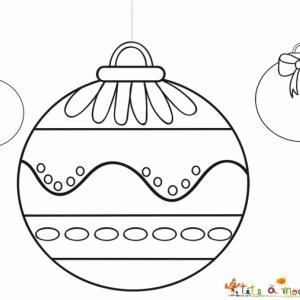 3 boules simples à colorier