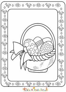Panier d'oeufs de Pâques encadré