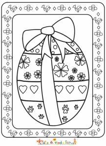 Joli coloriage d'un gros oeuf de Pâques