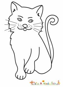 Coloriage du chat sérieux