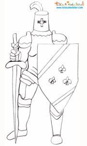 Coloriage chevalier à la fleur de lys